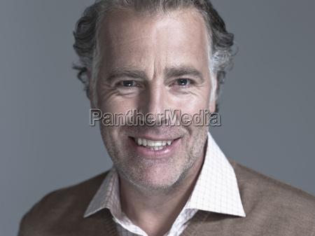 man smiling portrait close up