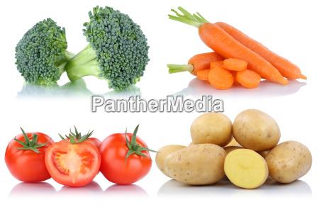 vegetales tomate patatas zanahoria collage libre