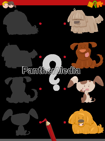 shadow activity with cartoon dogs