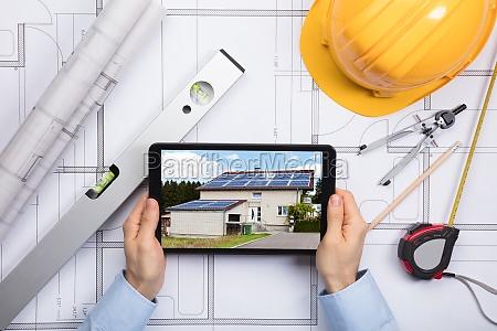 digital tableta arquitecto posesion tenencia ingeniero