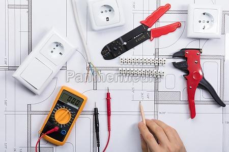 disenyo electrico dibujo foto profesional arquitecto