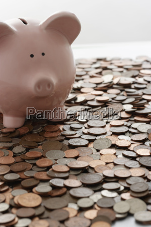 primer plano moneda londres de cobre