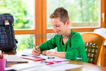 student doing homework assignment