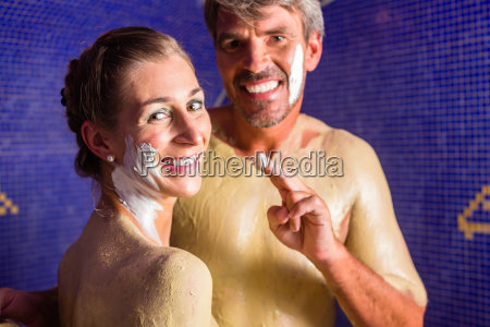 couple at rasul bath in wellness
