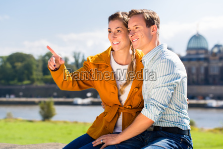 man and woman in dresden at