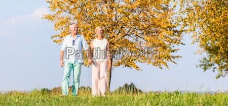 senior couple woman and man having