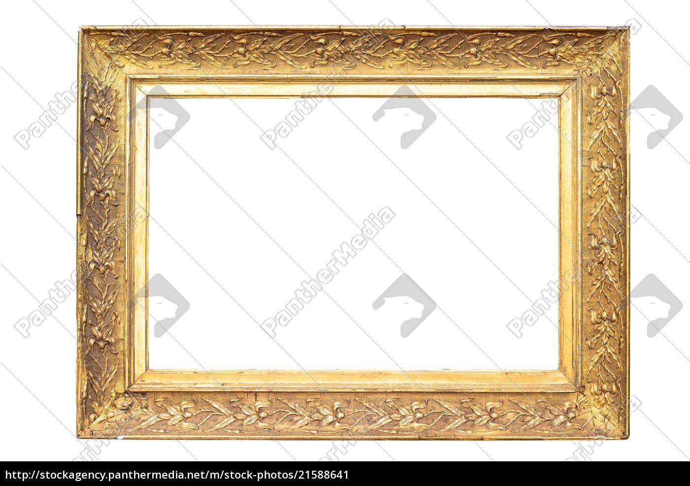 rectángulo, decorativo, marco, de, imagen, dorada - 21588641