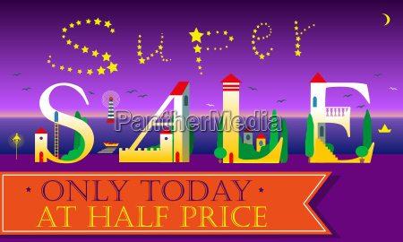 super sale only today at half