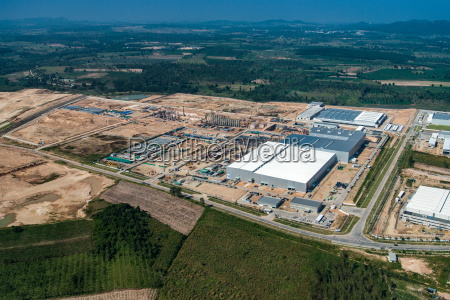 land development industrial estate and construction