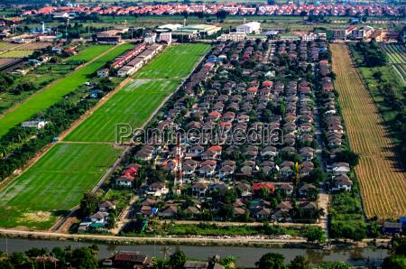 housing development aerial photography