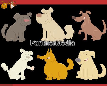 perros felices personajes de dibujos animados