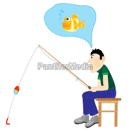 ilustracion hombres pensando en la pesca