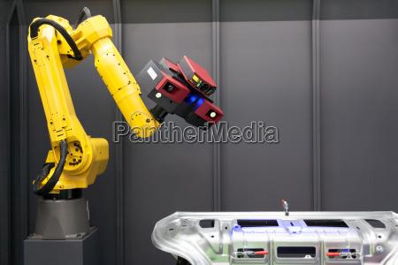escaneo automatizado escaner 3d montado en