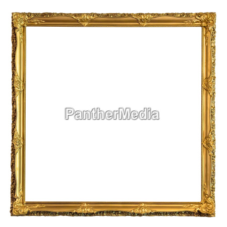 square decorative golden picture frame