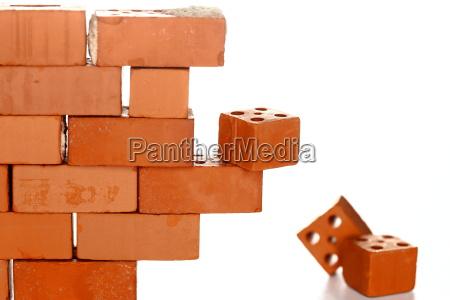 abbreded brick wall