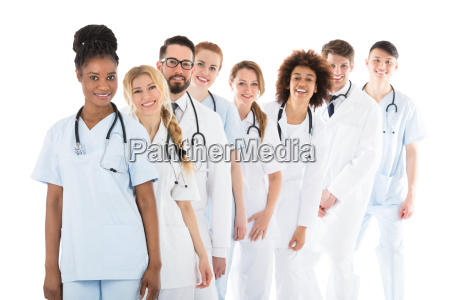 happy medical team with stethoscope