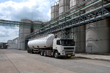 truck tanker delivery danger chemical in