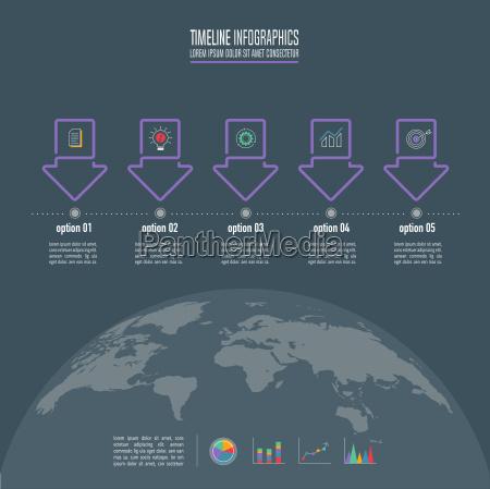 concepto creativo para infografia linea de
