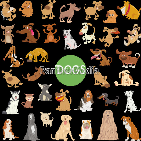 conjunto de personajes de perro lindo