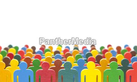 colorido grupo pintado de figuras de