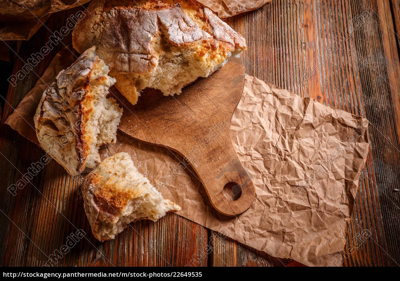 primer, plano, de, pan, rústico - 22649535