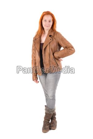 chica, de, pelo, rojo - 22654471