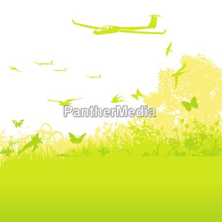planeadores en el aire