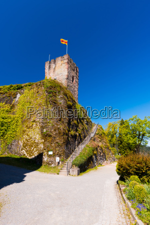 view of the castle tower with