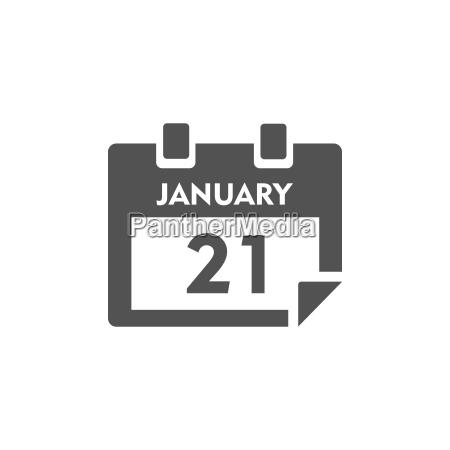 fecha ilustracion mes icono calendario