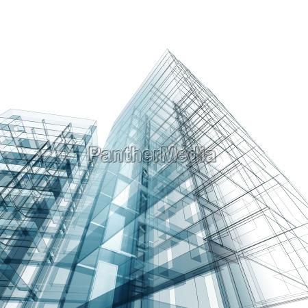 edificio abstracto 3d