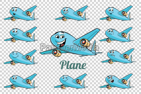airplane plane airliner aviation emotions characters