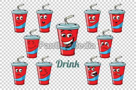 drink cola tube emotions characters collection