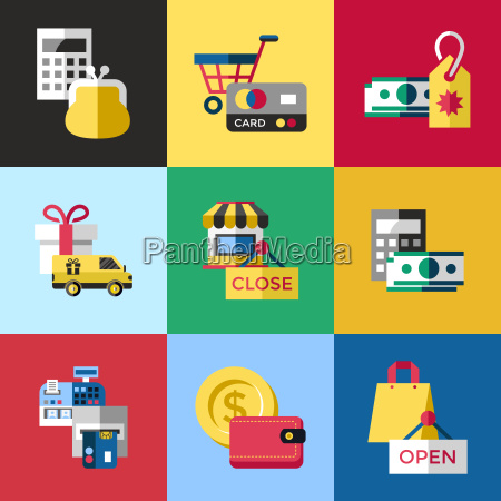 digital vector blue red shopping sale