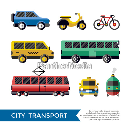 digital vector blue red yellow city