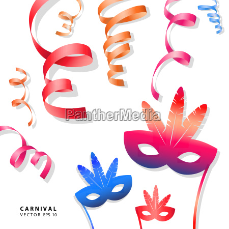digital vector blue red yellow carnival