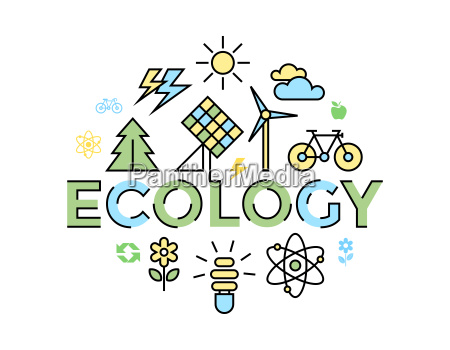 digital vector yellow blue ecology environment
