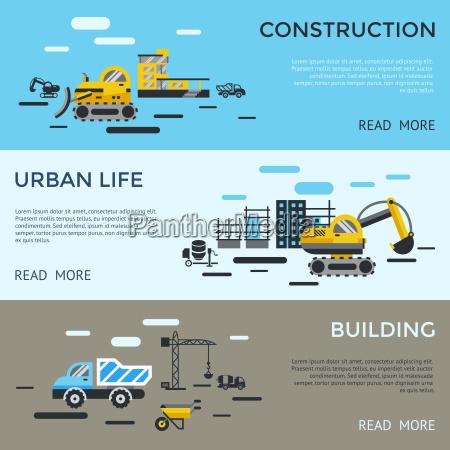 vector digital edificio de construccion amarillo