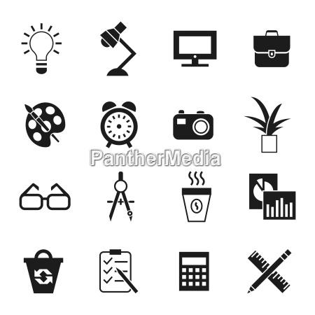 los iconos de espacio de trabajo