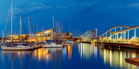 port vell and rambla de mar