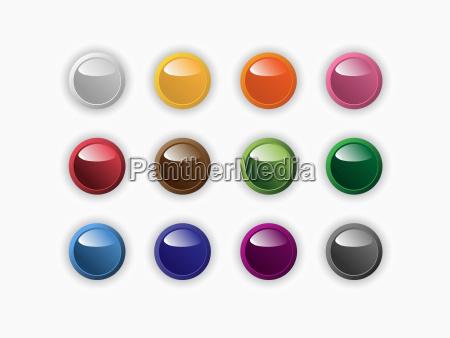 grupo de botones redondos de diferentes
