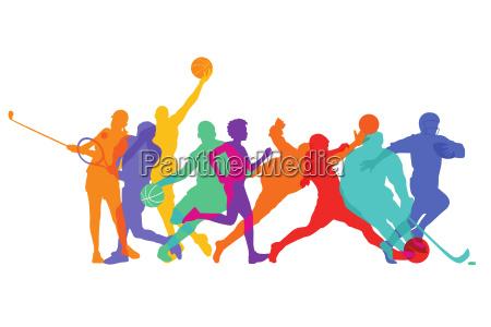 juegos deportivos y atletas