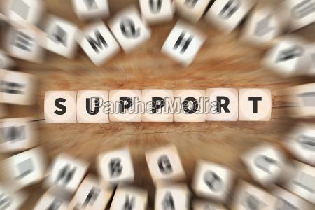 soporte de servicio de ayuda cubo