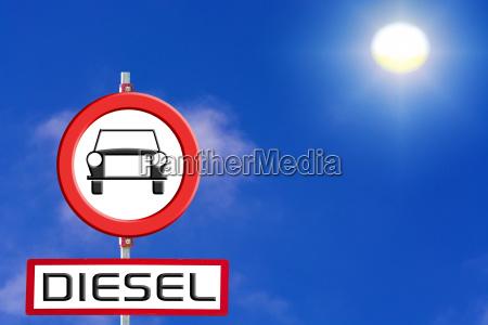 senyales de coches diesel prohibidos del