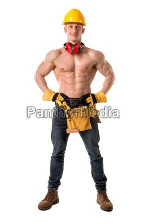 trabajador de la construccion fuerte