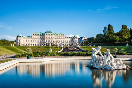 palacio belvedere en viena austria