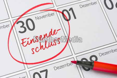 closing date 30 november