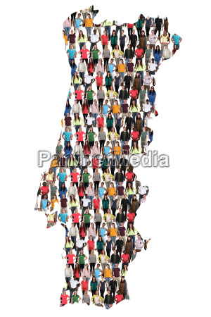 portugal map people people people group