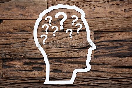 esquema de la cabeza del hombre