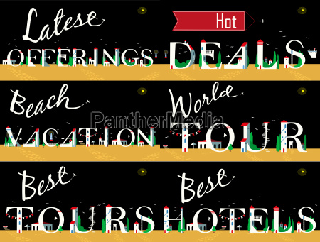 cards for travel business artistic font