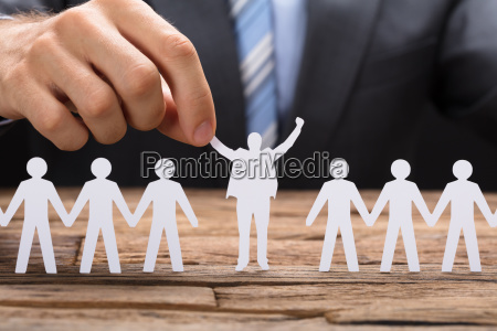 empresario holding exitoso ejecutivo de papel